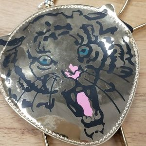 Tiger / Lion Gold Purse / Clutch / Crossbody